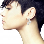 3 Leaf Earrings Silver - Nicola Bannerman -  Eclectic Artisans