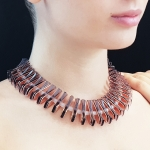 Smokey Eyes Necklace - Genos   -  Eclectic Artisans