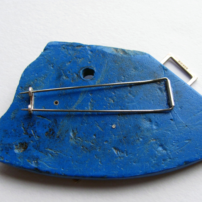 Blue, Blue, Electric Blue Brooch - Eleanor Symms -  Eclectic Artisans