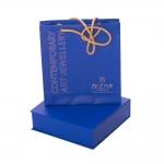 Semi-circle earrings with London blue topaz - Bizar Concept -  Eclectic Artisans