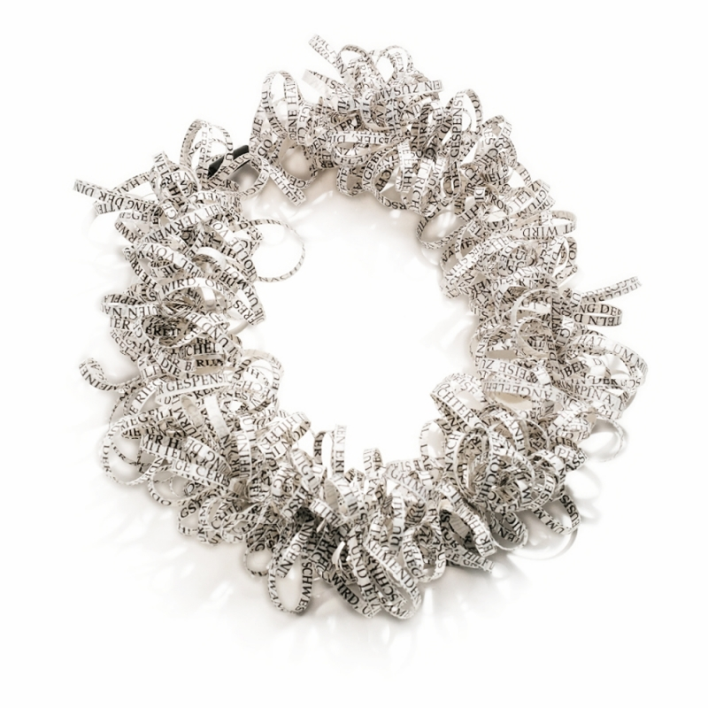 Meandering Poetry Collar - Christine Rozina -  Eclectic Artisans