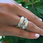 Bark Textured Wrap Ring - Andi  Terry -  Eclectic Artisans