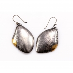 Gilded Shell Earrings - Andi  Terry -  Eclectic Artisans