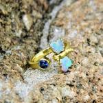 Emma Dragonfly Opal Ring - Alison Nagasue -  Eclectic Artisans