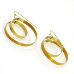 Continuous Loop Earrings in Titanium - Vanessa Williams -  Eclectic Artisans