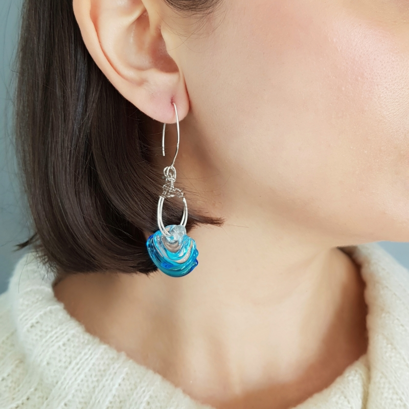 Air Wave and Flow Earrings - Sebnem Kurtul -  Eclectic Artisans