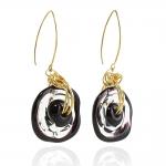 Black Circle Earrings - Sebnem Kurtul -  Eclectic Artisans