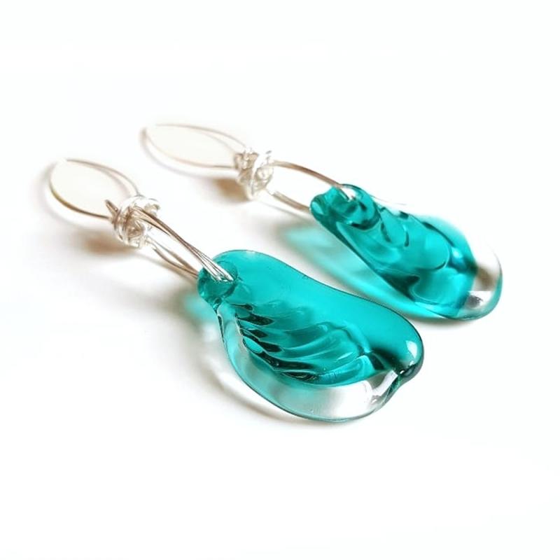 Turquoise Flow Earrings - Sebnem Kurtul -  Eclectic Artisans
