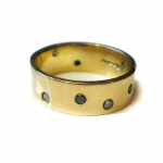 18ct and Diamonds Night and Day Ring - Catherine Marche -  Eclectic Artisans