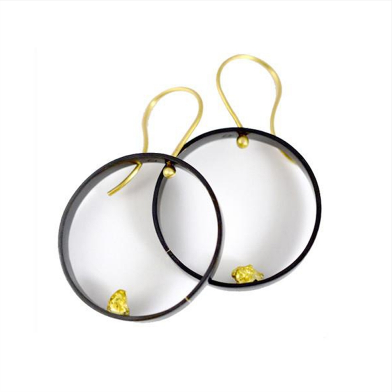 Alluvial Circle Earrings - Carolyn Barker -  Eclectic Artisans