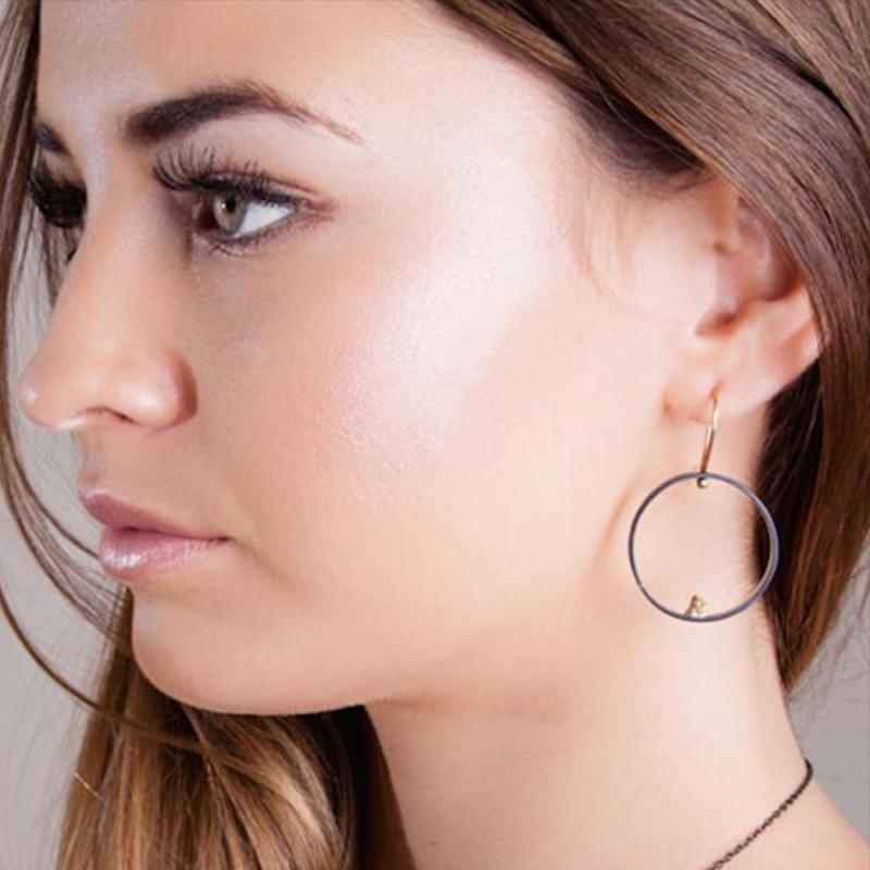 Alluvial Circle Earrings - Carolyn Barker -  Eclectic Artisans