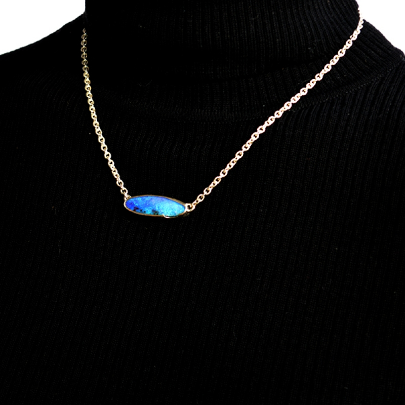 Ocean's Blue Necklace - Carolyn Barker -  Eclectic Artisans