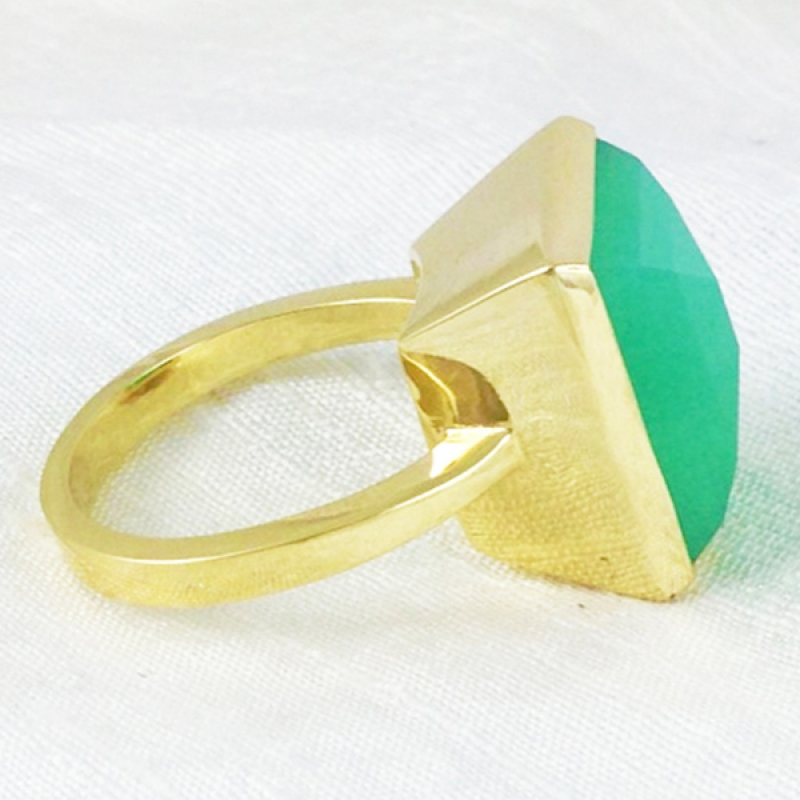 Green Gold Ring - Carolyn Barker -  Eclectic Artisans