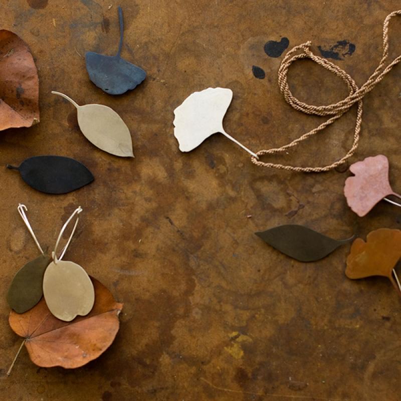 Ginkgo Leaf Pendant - Carolyn Barker -  Eclectic Artisans