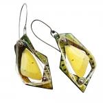 Orange Sulfur Butterfly Wing Specimen Earrings - Jessica deGruyter Found in ABQ -  Eclectic Artisans