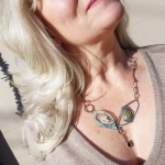 "Celaeno, ""mother of wolf & goat"", Pleiades Necklace  - Jessica deGruyter Found in ABQ -  Eclectic Artisans"