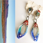 Cochiti Lake at Capacity Contraption Earrings - Jessica deGruyter Found in ABQ -  Eclectic Artisans