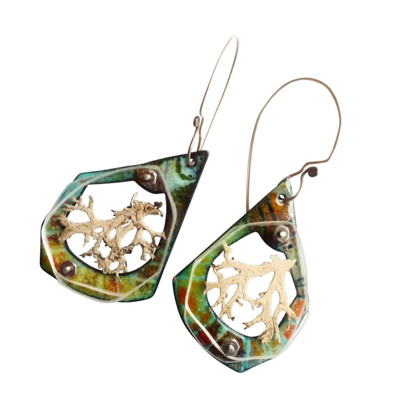 Lichen Specimen Earrings - Jessica deGruyter Found in ABQ -  Eclectic Artisans