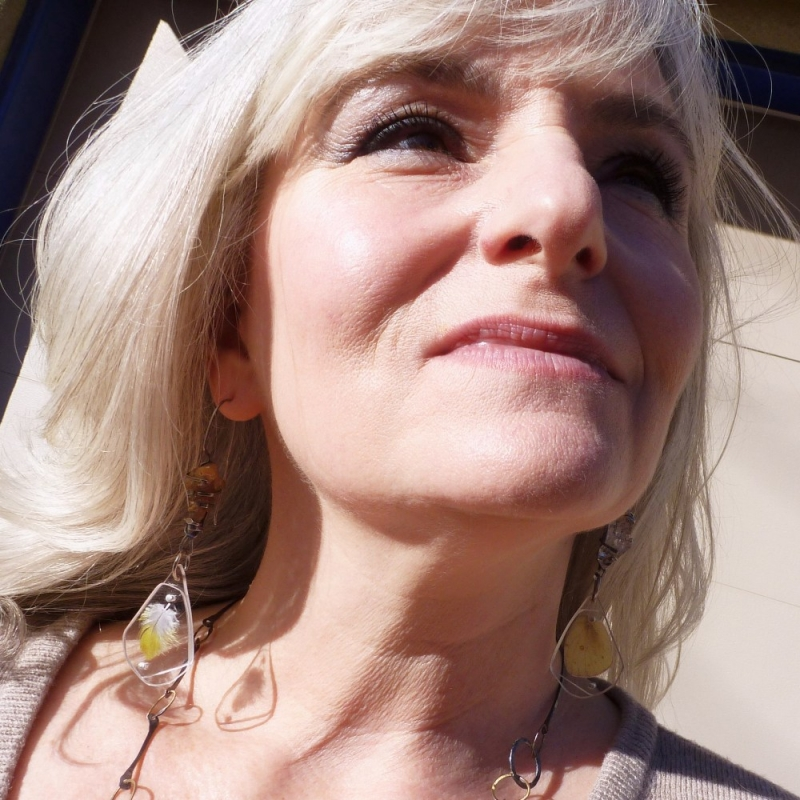 Rain-Washed Cottonwood Leaves Contraption Earrings - Jessica deGruyter Found in ABQ -  Eclectic Artisans