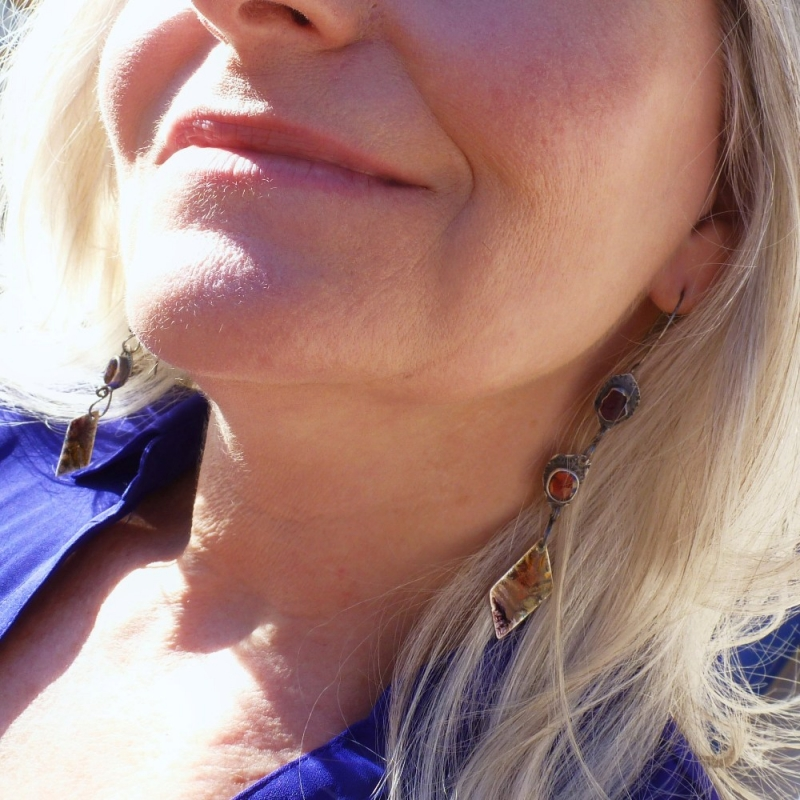 Last Sunrays  Atmosphere Earrings - Jessica deGruyter Found in ABQ -  Eclectic Artisans