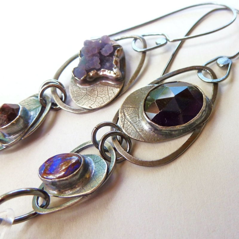 Deep Shade Contraption Earrings - Jessica deGruyter Found in ABQ -  Eclectic Artisans
