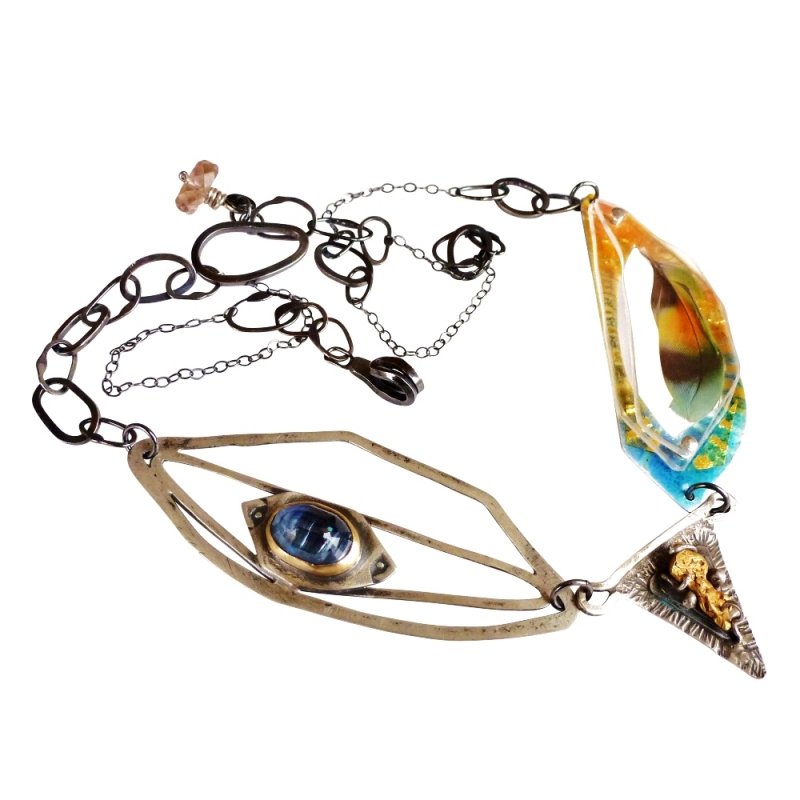 """Taygete, """"the golden hind"""" , Pleiades Necklace - Jessica deGruyter Found in ABQ -  Eclectic Artisans"""