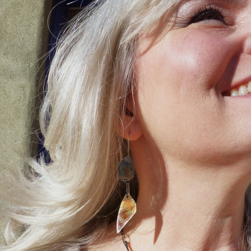 Phosphorus Becomes Hesperus Atmosphere Earrings - Jessica deGruyter Found in ABQ -  Eclectic Artisans