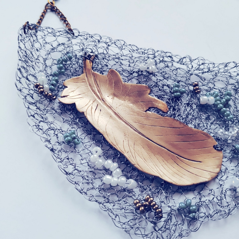 Feather in the Wind Necklace - Firecrafted Handmade Jewellery -  Eclectic Artisans
