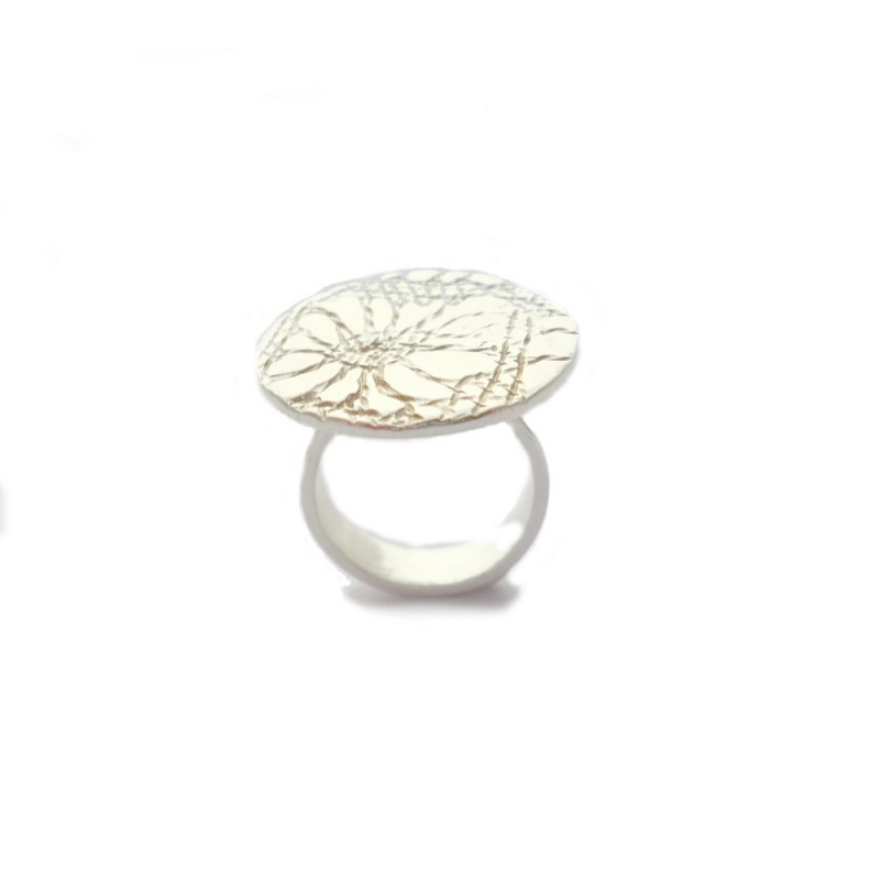 Sunflower Lace Ring - Firecrafted Handmade Jewellery -  Eclectic Artisans