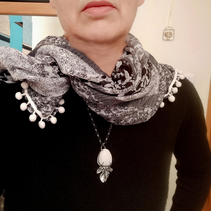 White Pebble Necklace - Firecrafted Handmade Jewellery -  Eclectic Artisans