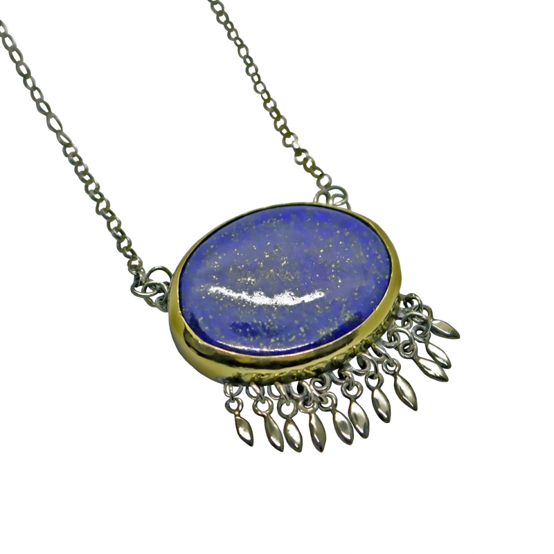 Belle Blue Necklace - Laise Doria -  Eclectic Artisans