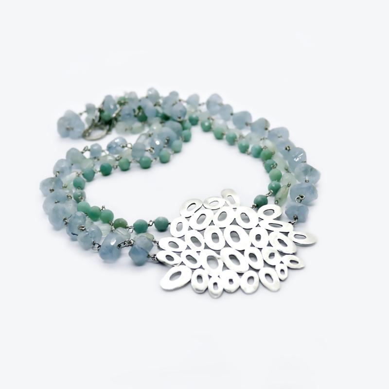 Blue Wave Necklace - Laise Doria -  Eclectic Artisans