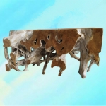 "Giant Teak Root Stump Coffee Table 60x52""  - Palms  Oasis -  Eclectic Artisans"