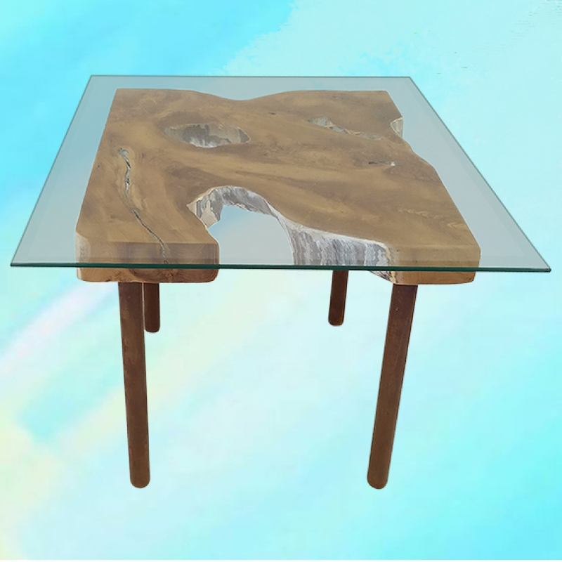 Teak Slice Coffee Tables (3 sizes) - Palms  Oasis -  Eclectic Artisans