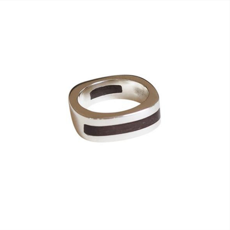 Double Wood Inlay Ring - Sarah Bourke -  Eclectic Artisans
