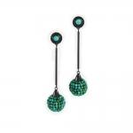 Beaded Turquoise Drop Earrings - Julie Long Gallegos -  Eclectic Artisans