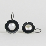 Black and White Pearl Flower Earrings - Julie Long Gallegos -  Eclectic Artisans