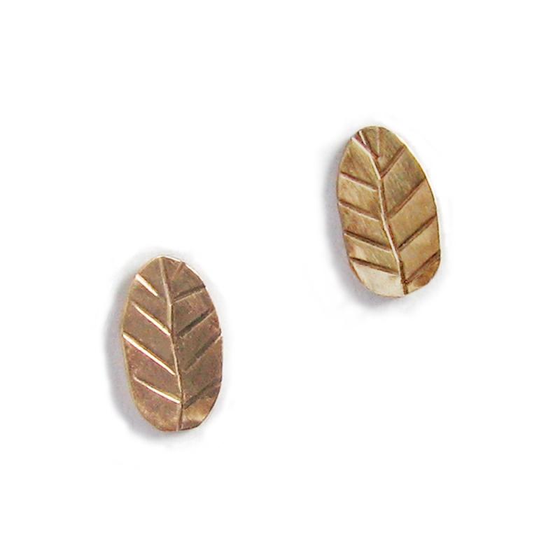 Gold Leaf Studs - Julie Long Gallegos -  Eclectic Artisans