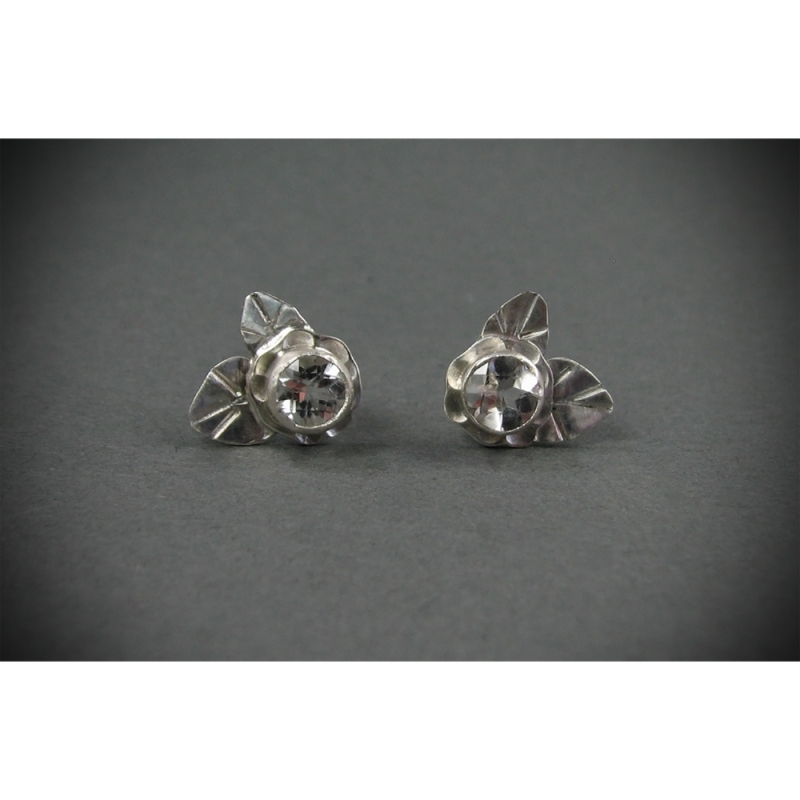 Ice Flowers Studs - Julie Long Gallegos -  Eclectic Artisans