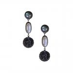 Labradorite, Moonstone & Black Spinel Drop Earrings - Julie Long Gallegos -  Eclectic Artisans