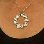 Kopernik Daisy Wreath Pendant 3 - Felicity Peters -  Eclectic Artisans