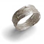 Silver Wrap Bangle - Shimara Carlow -  Eclectic Artisans