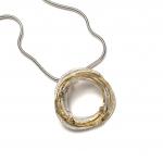 Gold and Silver Wrap Pendant - Shimara Carlow -  Eclectic Artisans
