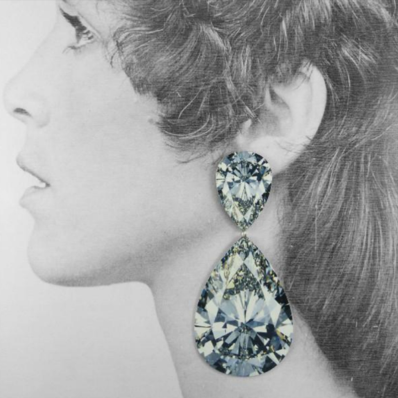 Rocks Earrings - Large Double Pear Diamond - Anna Davern -  Eclectic Artisans