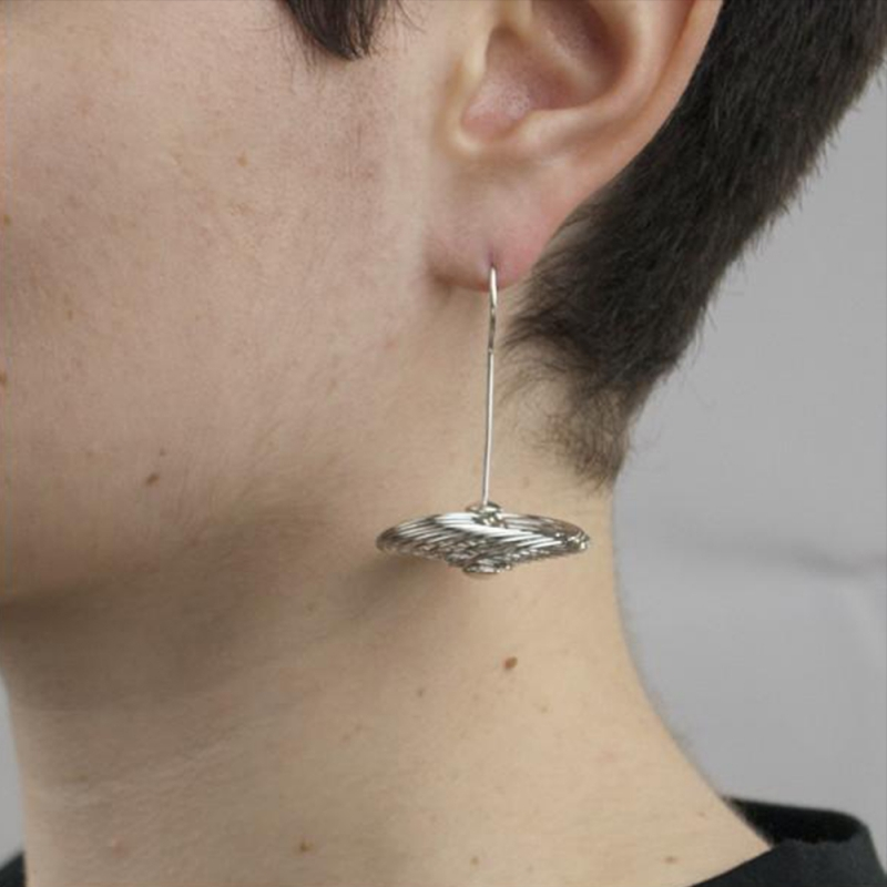Spin Out Side Ways Earrings - Angela Giuliani -  Eclectic Artisans