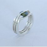 Circle Rivet Ring - Moissanite - Katherine Grocott -  Eclectic Artisans