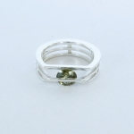 Circle Rivet Ring - Kornerupine - Katherine Grocott -  Eclectic Artisans