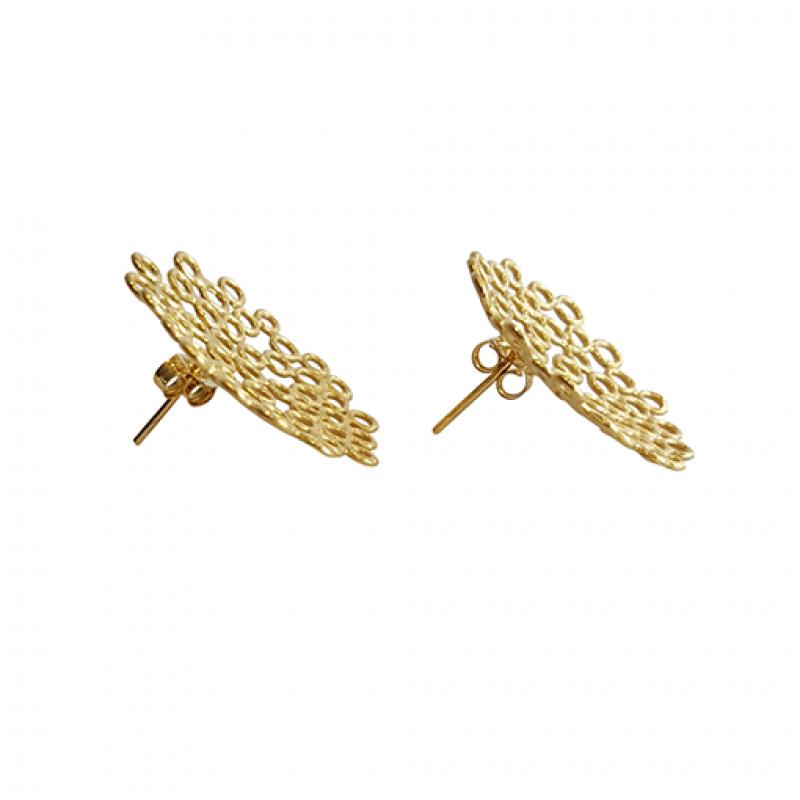 'big melt' earring studs - Bridget Kennedy -  Eclectic Artisans